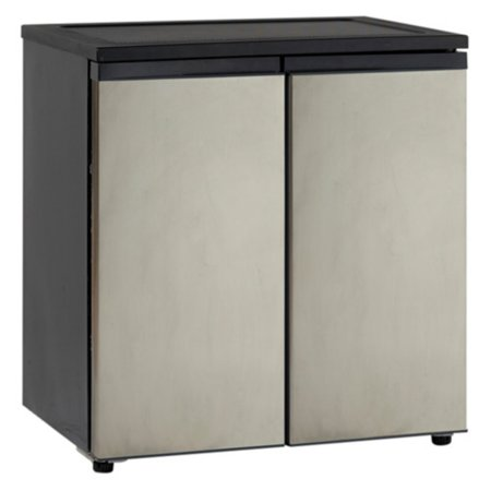 Avanti 5.5 Cu Ft Side-by-Side Refrigerator/Freezer, Stainless