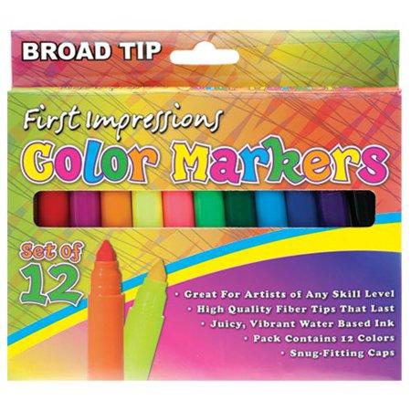 First Impressions Color Art Markers for Kids Set (Best First Strike Marker)