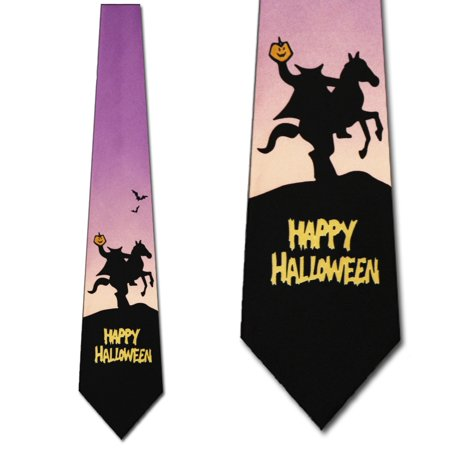 Headless Horseman Mens Tie Halloween Neckties](Disney Halloween Party Headless Horseman)