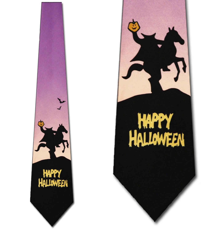 Headless Horseman Mens Tie Halloween Neckties