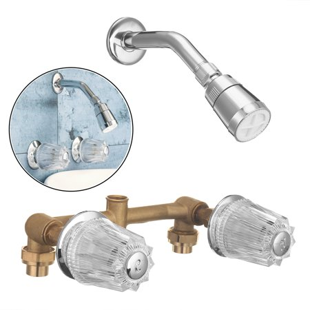 2 Handle Dual Holes Bathroom Bath Tub Shower Faucet With Shower waterfaucet Head Kitchen Mixer Tap