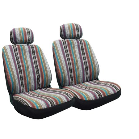 Baja Inca Seat Covers Pair Front Row Saddle Blanket For Toyota (Front Row Seat)