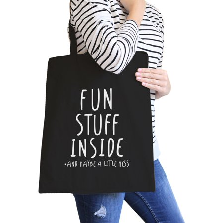 Fun Stuff Inside Black Canvas Bag Gifts For Best Friend Tote