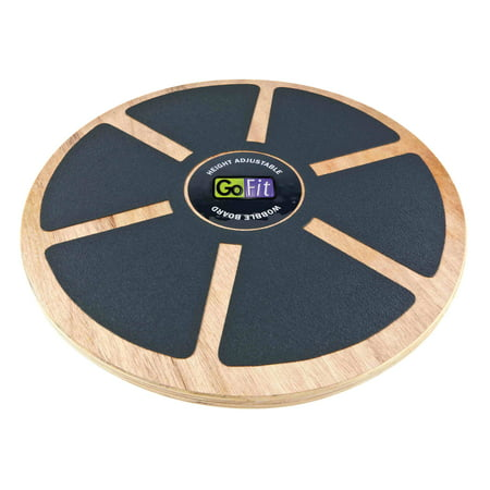 "15"" Height Adjustable Wood Wobble Board w/ Training Manual"