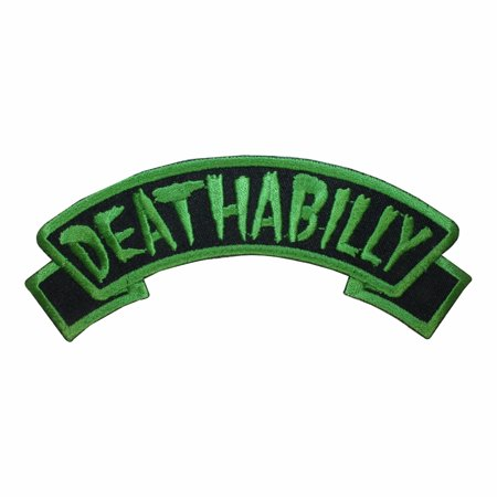Deathabilly Name Tag Dead Horror Kreepsville Embroidered IronOn Applique - Rosie Name Patch