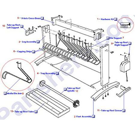 HP C4704-60073 OEM - Media bin arm (Loop