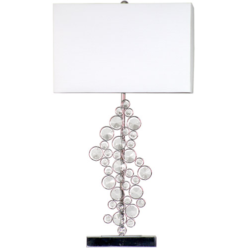 Elegant Designs Prismatic Crystal Sequin and Chrome Table Lamp by All the Rages Inc