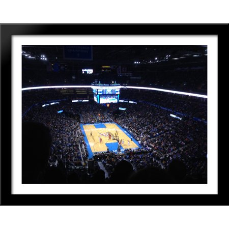 Chesapeake Energy Arena 36X28 Large Black Wood Framed Print Art   Home Of The Oklahoma City Thunder
