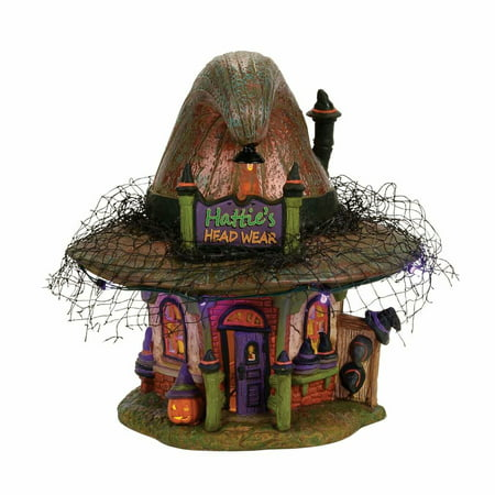 Dept 56 Snow Village Halloween 4056700 Hattie's Hat - Value Village Halloween Accessories