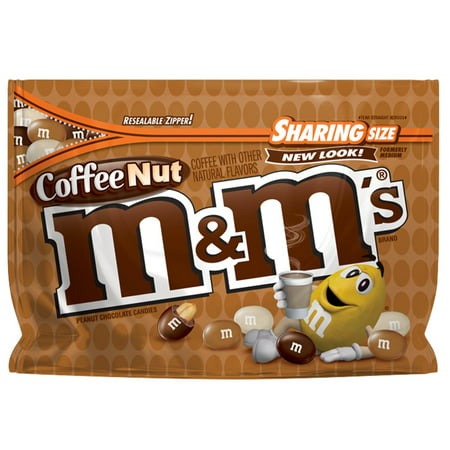M&MS Coffee Nut Peanut Chocolate Candy Sharing Size, 9.6 Oz. Bag