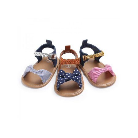 Toddler Girls Sandal (MAXSUN Infant Newborn Toddler Baby Girl Bow-Knot Soft Sole Sandals Princess shoes )