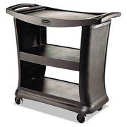 Rubbermaid Commercial Executive Service Cart, Three-Shelf, 20-1 3w x 38-9 10d, Black