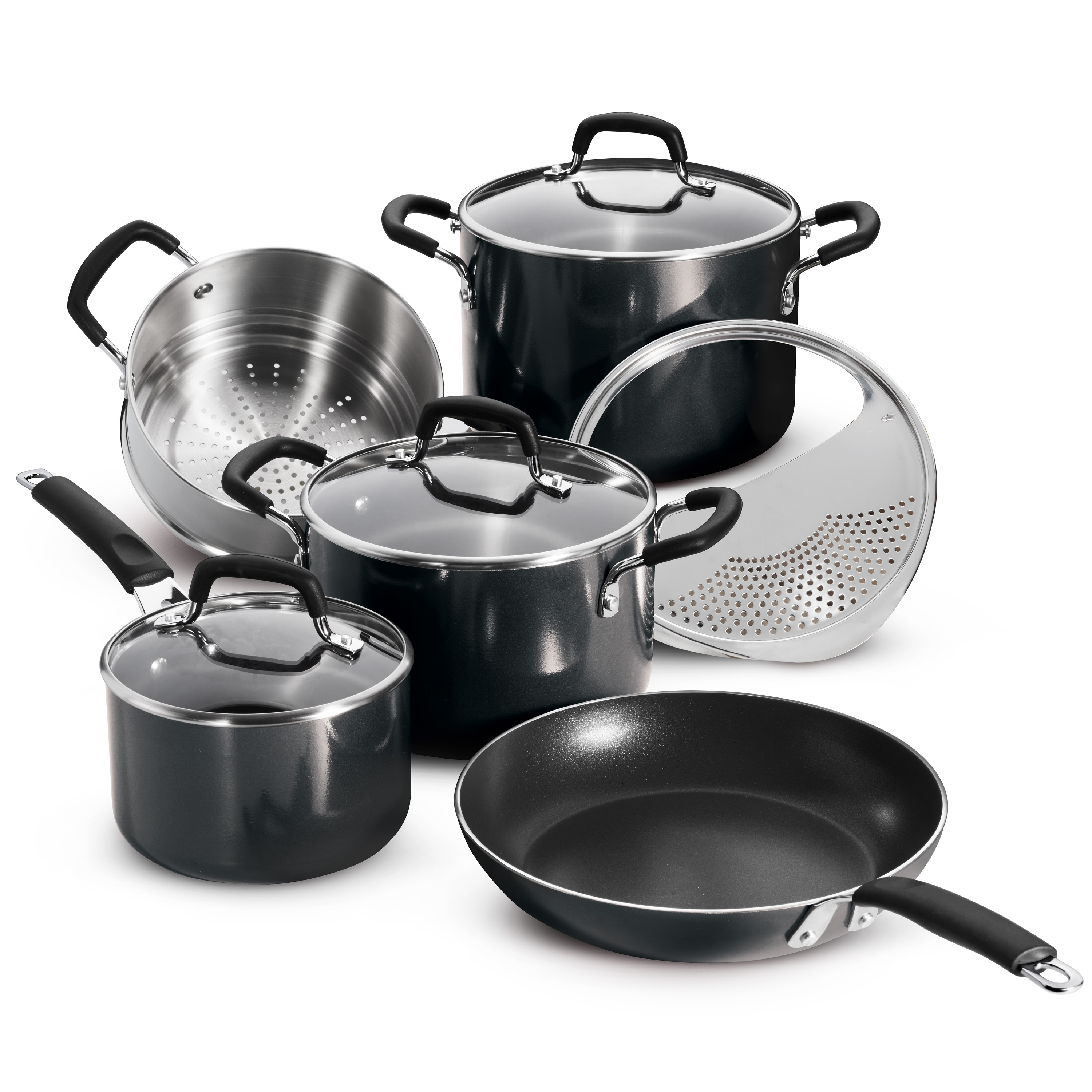 Tramontina 9 Pc Porcelain Enamel Nonstick Cookware Set - Medium Gray