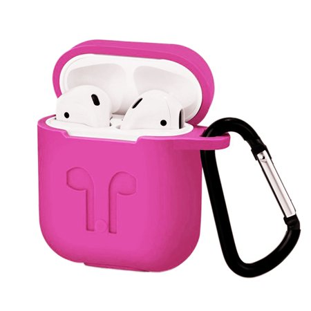Waterproof Silicone Case for Airpods Protective Sleeve for Airpods Silicone Wireless Earphone Case Cover Rose Pink