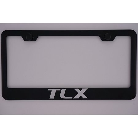 Acura Tlx Black License Plate Frame With Caps By Pcr