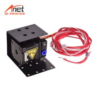 Anet 3D Printer Extruder Remote Feeder Feeding Kit with 1.5 Meters Tube 0.4mm Nozzle Head 42 Stepper Motor Metal Extruder Upgraded Replacement for 1.75mm Filament Diameter Anet A8 Plus DIY 3D Printer