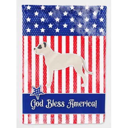 USA Patriotic Dogo Argentino Flag Canvas House Size