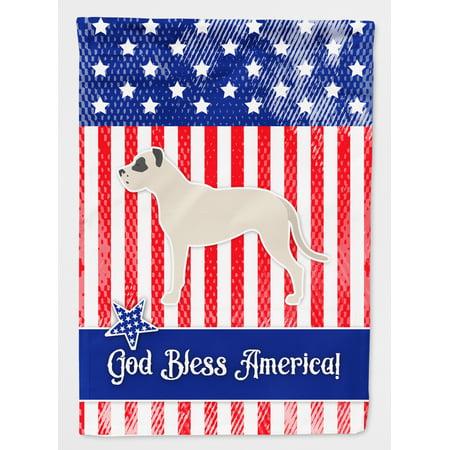 USA Patriotic Dogo Argentino Flag Canvas House Size