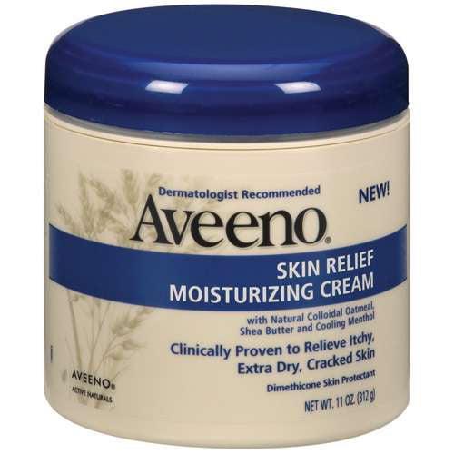 Aveeno Skin Relief Moisturizing Cream Jar Body Moisture, 11 oz