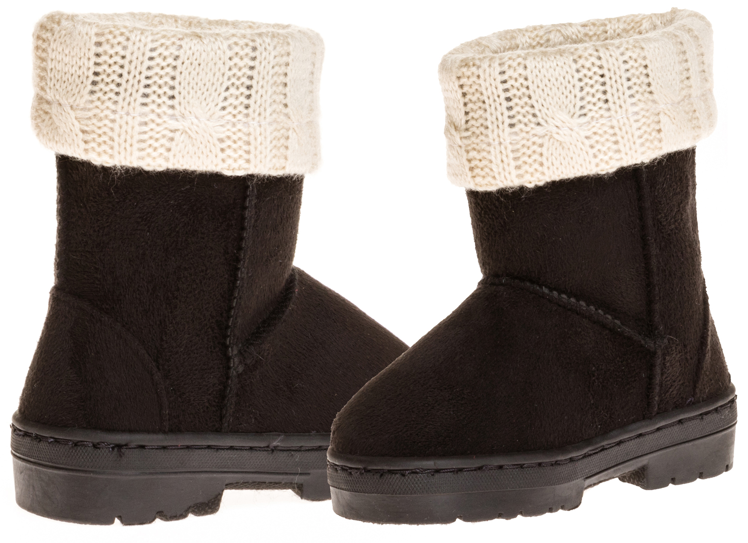 Sara Z Toddler Girls Lug Sole Winter Boot With Fold-Over Sweater Cuff by