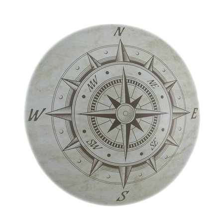 Nautical Compass Rose Decorative Metal Wall Plaque