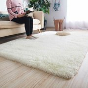 5 Colors Fluffy Rugs Anti-Skid Shaggy Area Rug Dining Room Home Bedroom Carpet Floor Mat Home Decor-63x91inch