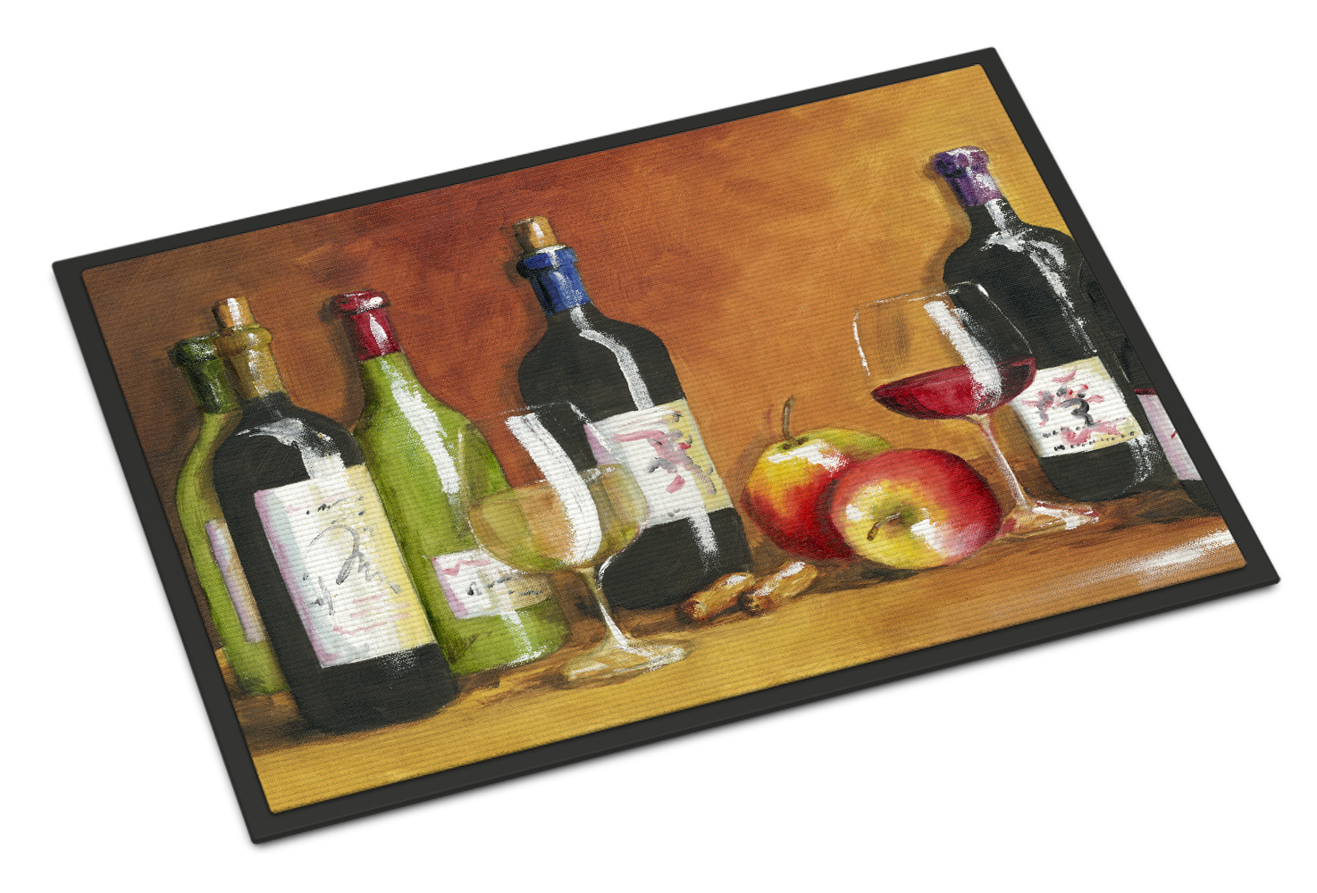 Wine by Malenda Trick Doormat by Caroline's Treasures