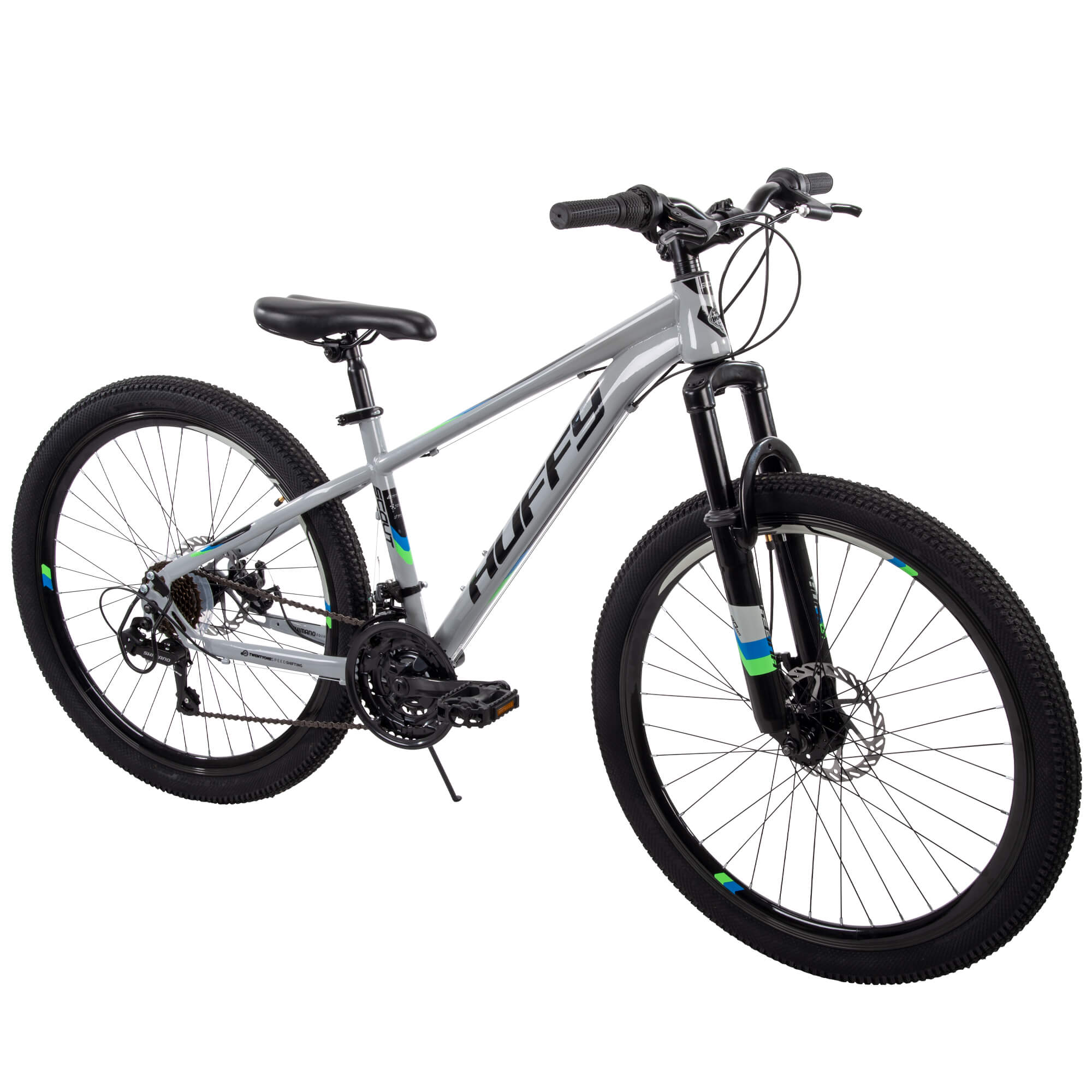 "26/"" Men Mountain Bike Man Adult Male Black Blue Bicycle Terrain Sports Hiking"
