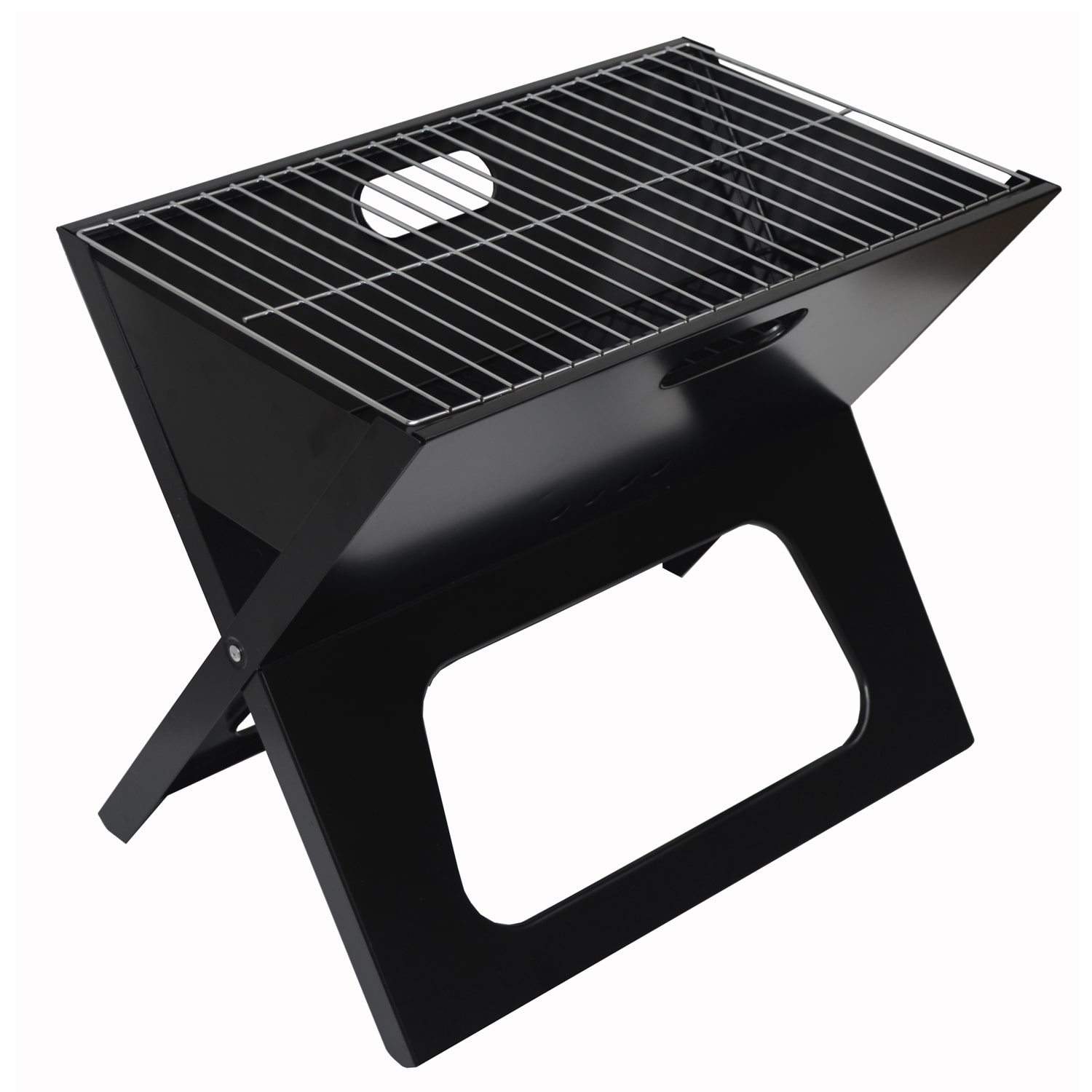 Picnic at Ascot Black Portable Charcoal Grill