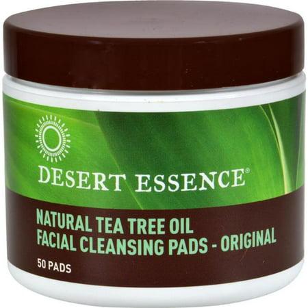 Desert Essence HG0375089 Natural Tea Tree Oil Facial Cleansing Pads - Original, 50 Pads ()