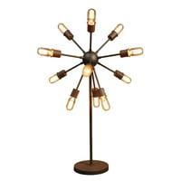 Loris 12-light Antique Bronze 30-inch Edison Table Lamp with Bulbs