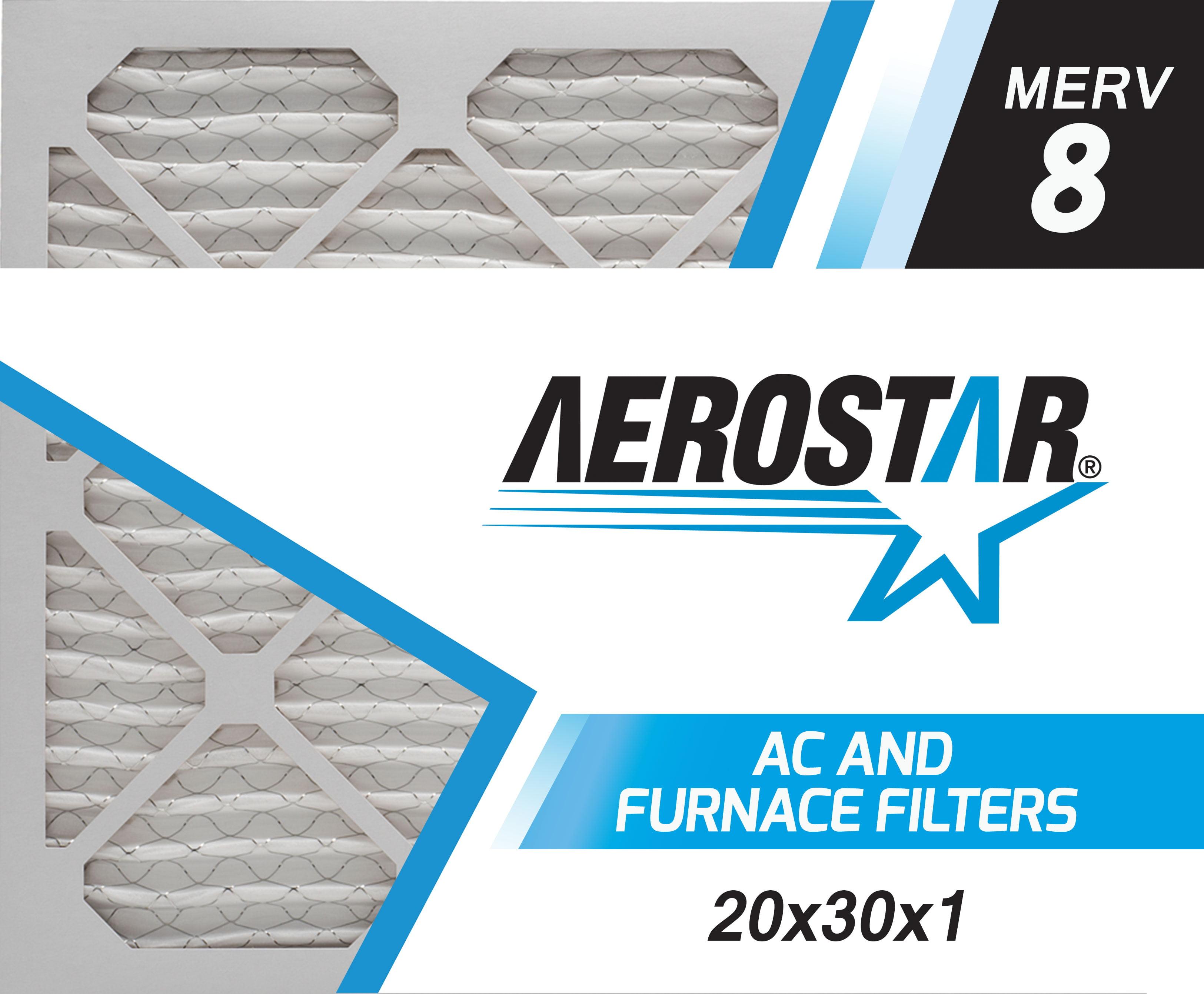 Washable Electrostatic 20x30x1 MERV 8 High Dust Holding Capacity 20x30x1 CARTER HVAC /& Furnace Filter