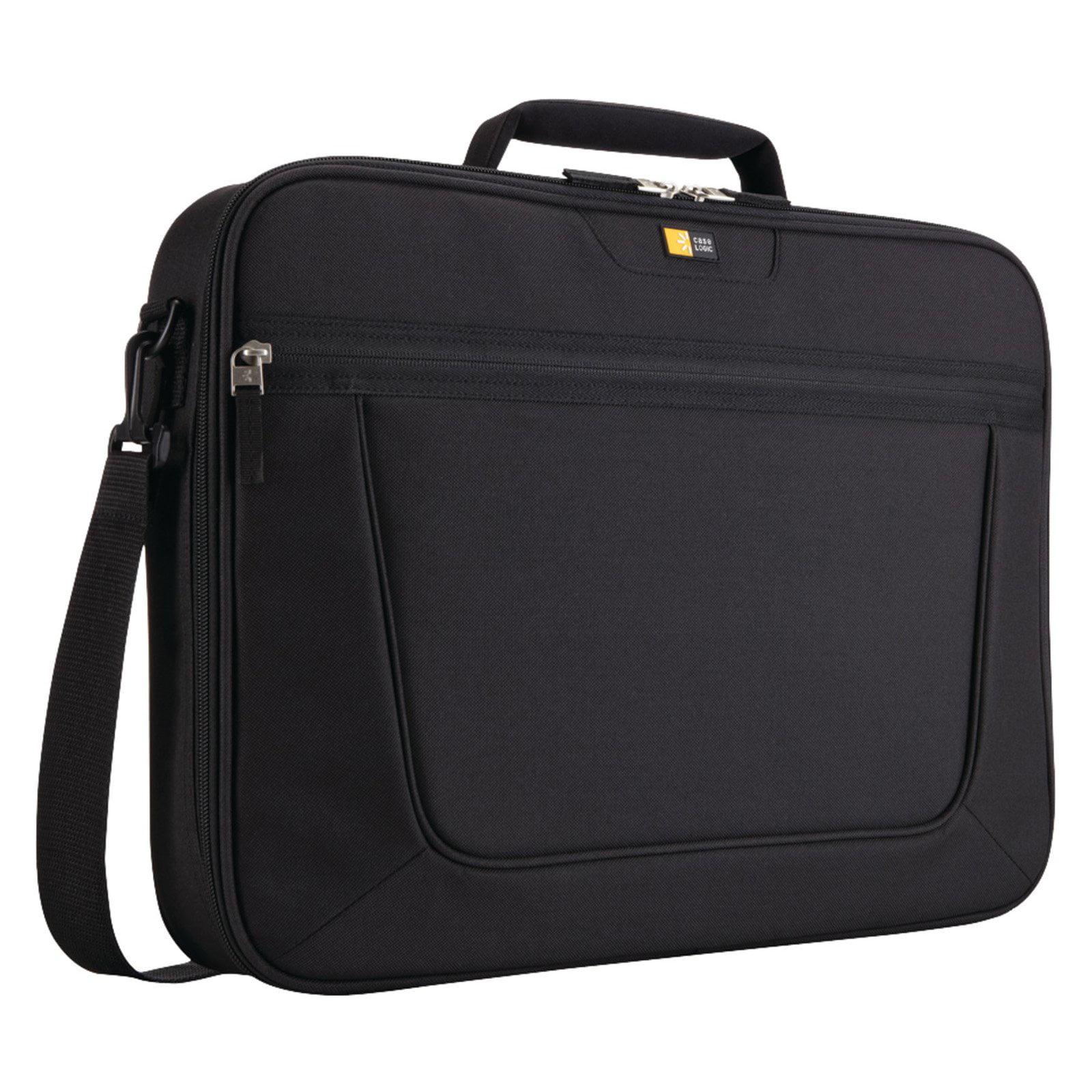 "Case Logic 17.3"" Clamshell Laptop Briefcase, Black"