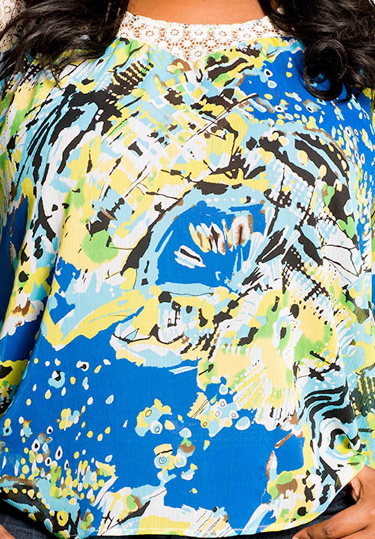 58e0135d080 Sealed with a Kiss Designs Plus Size - SWAK Designs Women s Plus Size Zara  Chiffon Top - Walmart.com