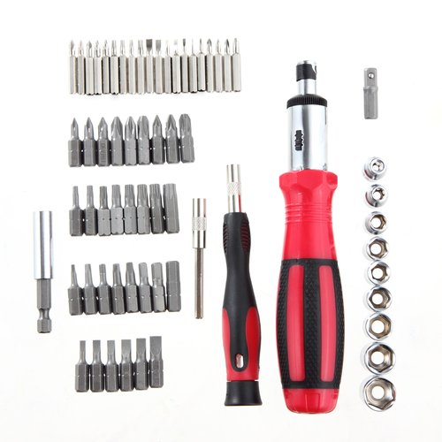 Hyper Tough TS99816R 65 Piece Ratcheting Screwdriver Set With Case