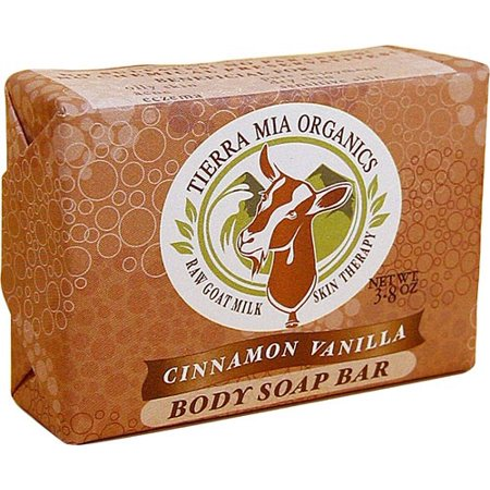 Tierra Mia Organics Goat Milk Soap Bar, Cinnamon Vanilla, 3.8 Oz (Goat Milk Face Soap)