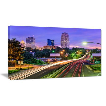 DESIGN ART Winston Salem North Carolina - Cityscape Canvas print - Multi-color ()