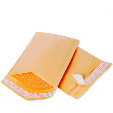 Bubble Cushioned Mailers (Self Sealing 4 x 8 PREMIUM CUSHION KRAFT BUBBLE MAILER Case Bundle (500)
