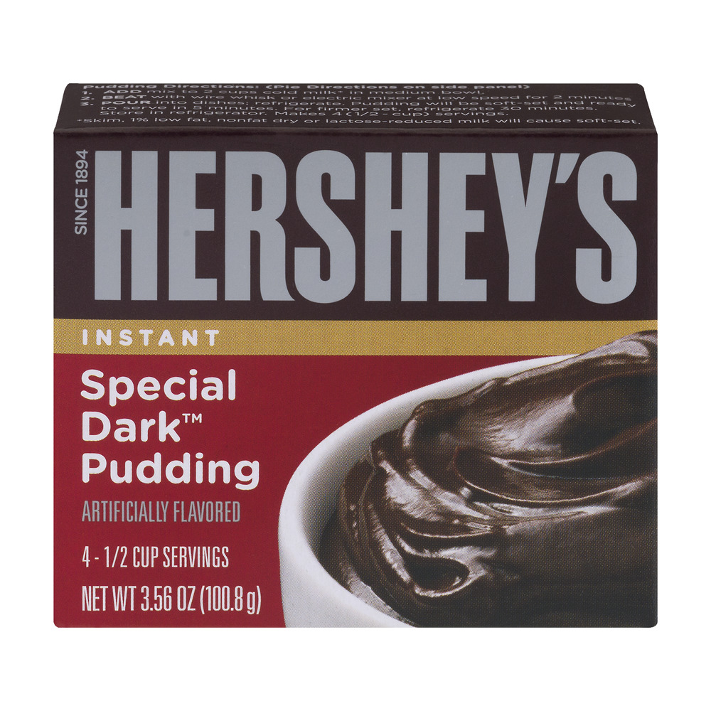 (3 Pack) Hershey's Instant Pudding Special Dark Chocolate, 3.56 Oz