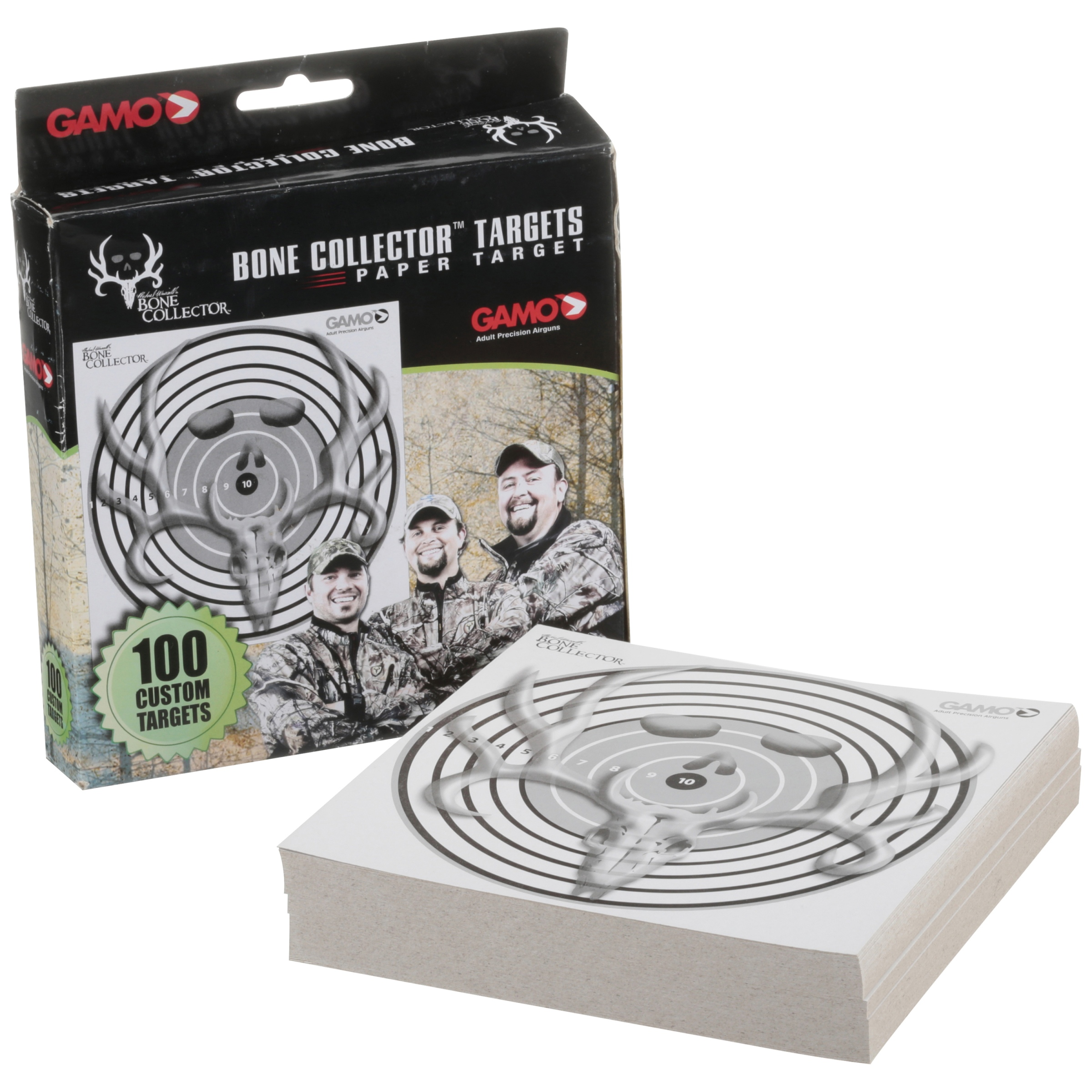 Gamo Bone Collector Paper Targets 100 ct Box by Gamo Outdoor USA Inc.