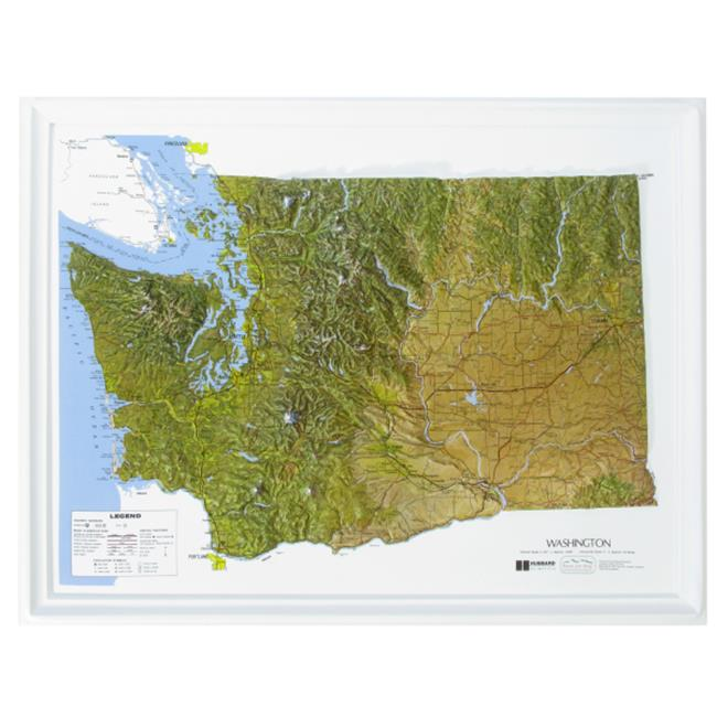 American Educational Products K-Wa2217 Washington Ncr Series Map
