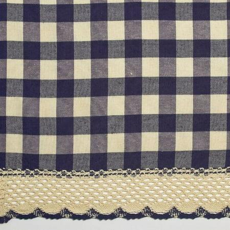 Achim Buffalo Check Kitchen Curtain Valance