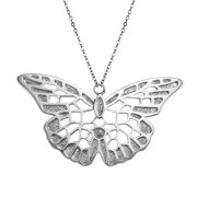 Elle Butterfly Pendant Necklace in Sterling Silver