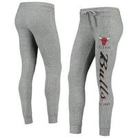 Women's Heathered Gray Chicago Bulls Academia Cuffed Pants