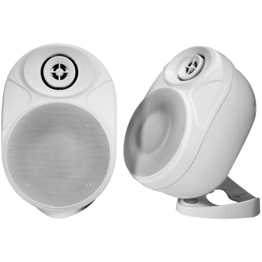 """NXG 5"""" Weather-Resistant Wireless Indoor/Outdoor Powered Speakers"""