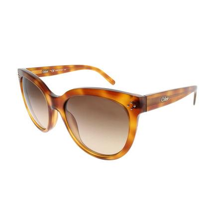 Chloe CE705/S 725 Blonde Havana Cateye Sunglasses