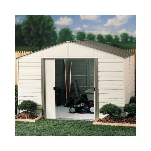 Bundle-34 Arrow Milford 10 Ft. W x 12 Ft. D Vinyl Coated Steel Storage Shed (2 Pieces)