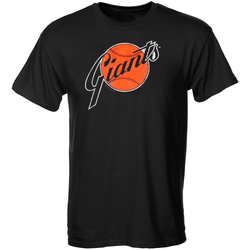 San Francisco Giants Youth Cooperstown T-Shirt - Black