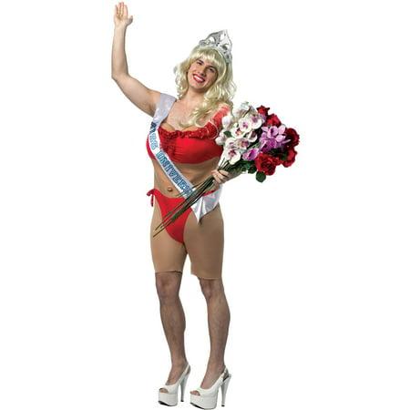 Miss Universe Male Bikini Men's Adult Halloween Costume - Miss Universe Halloween Costume