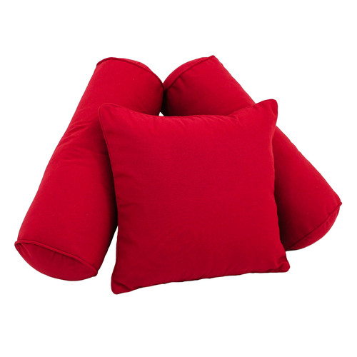 Blazing Needles 3 Piece Twill Solid Corded Pillow Set